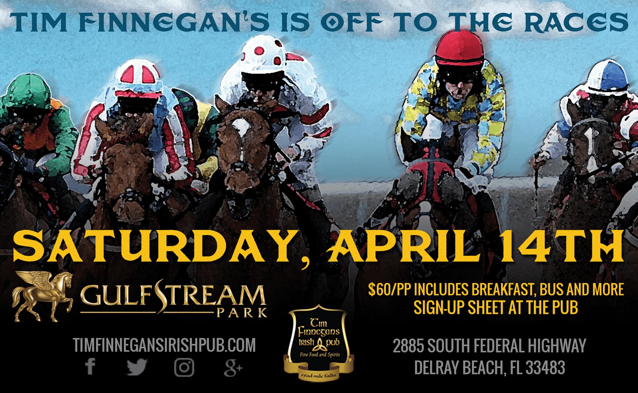 Tim Finnegan's is Off to the Races - Tim Finnegans Irish Pub